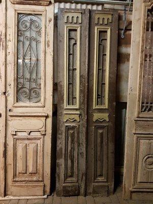 Antieke dubbele deur 79 x 247 cm