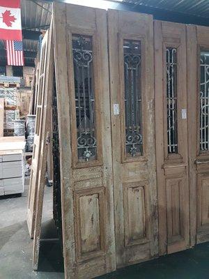 Antieke dubbele deur 95 x 245 cm