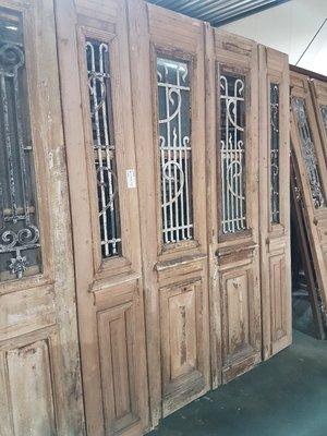 Antieke 4 slag deur 194 x 242 cm