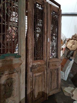 Antique double door 115 x 243 cm