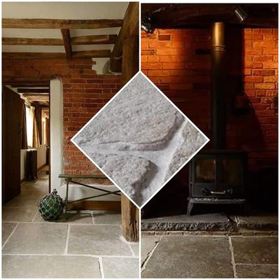 Robuuste dallen, Cathedraal stone Sand afm. 60x90cm