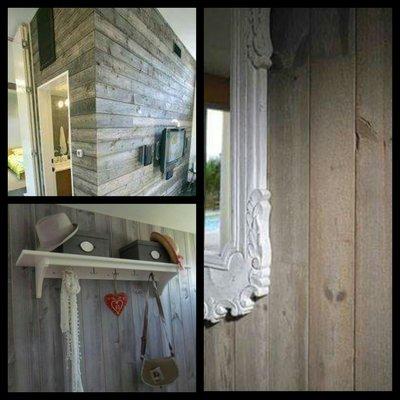 Wandverkleidung, Gerustholz Dielen fur Wand und Decke