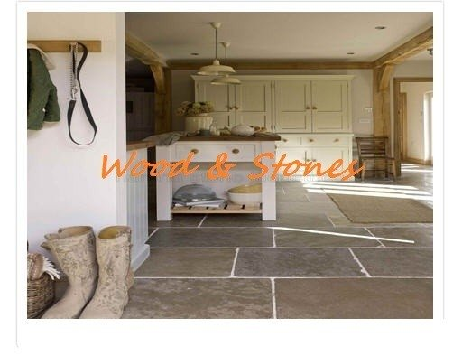 Burgundy Flagstones, Aged natural stone flooring