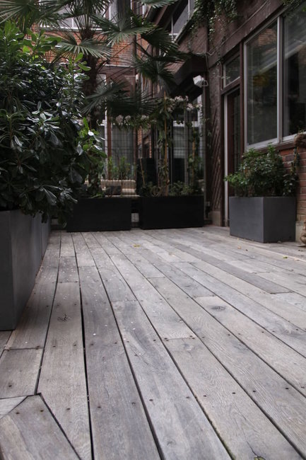 steigerplanken Decking grijs verduurzaamd