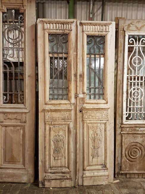 Antieke dubbele deur 100 x 215 cm
