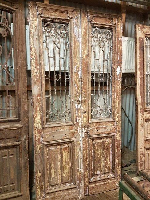 Antieke dubbele deur 118 x 235 cm