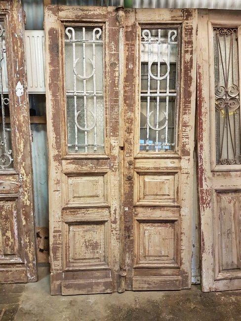 Antique double door 117 x 228 cm