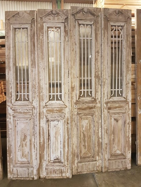 Antieke 4 slag deur 195 x 252 cm