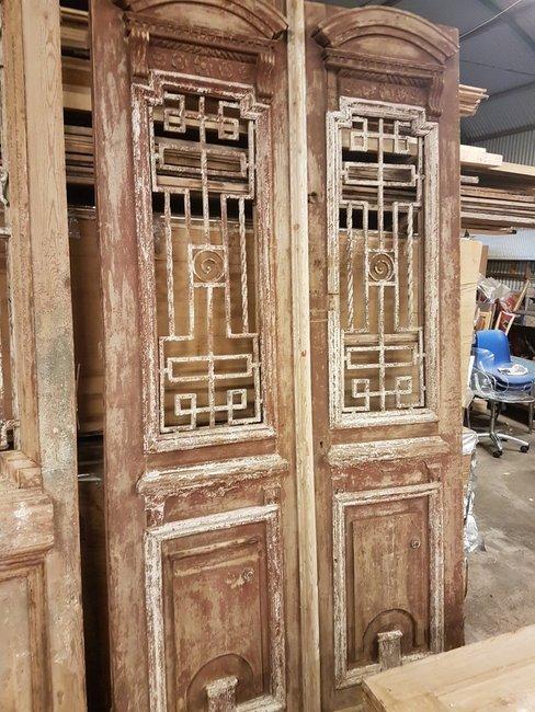 Antique double door 126 x 248 cm