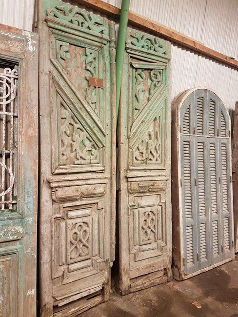 Antique double door 140 x 262 cm