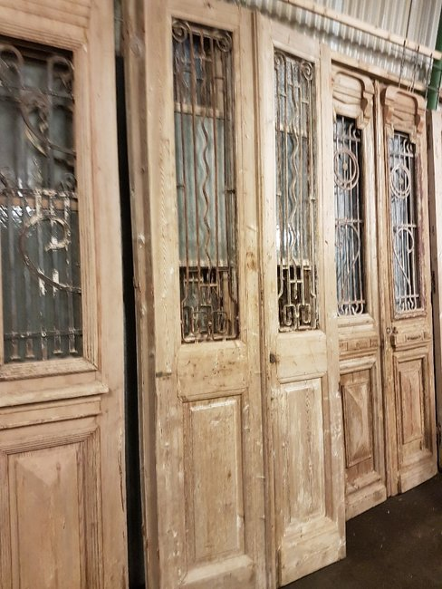 Antieke dubbele deur 96 x 246 cm