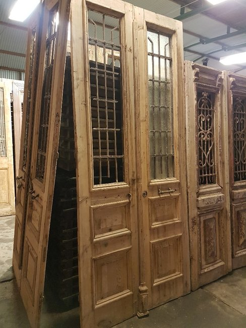 Antieke dubbele deur 120 x 277 cm
