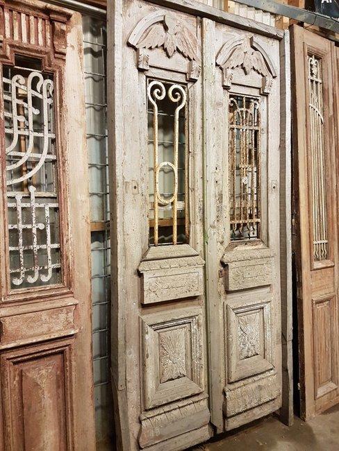 Antieke dubbele deur 122 x 250 cm
