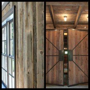 Barnwood wandbekleding, pine houten panelen Unieke uitstraling!