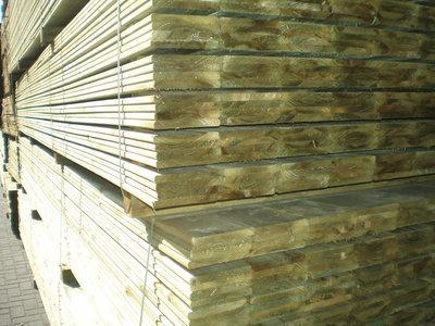 Planken geimpregneerd 16x145mm 4.50m