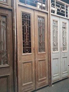 Antieke dubbele deur 120 x 327 cm
