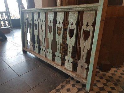 Antiek houten balustrades