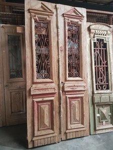 Antieke dubbele deur 123 x 260 cm