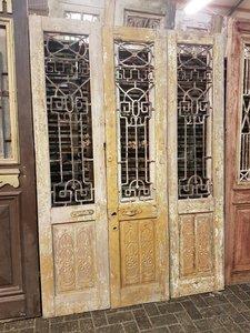 Antieke 3 slag deur 160 x 235 cm