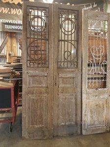 Antieke dubbele deur 110 x 246 cm