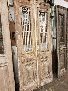 Antieke dubbele deur 108 x 236 cm