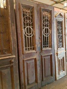 Antieke dubbele deur 118 x 238 cm