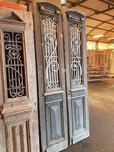 Antieke dubbele deur 110 x 255 cm