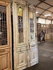 Antieke dubbele deur 120 x 280 cm