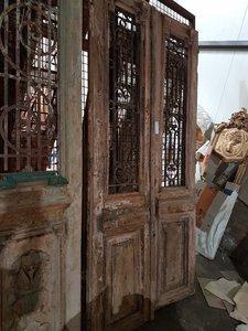 Antieke dubbele deur 115 x 243 cm