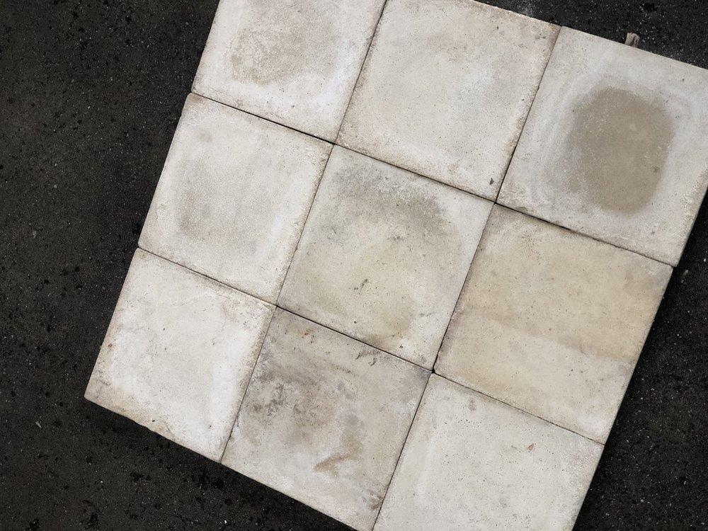 Antieke cement tegels wit 20x20cm