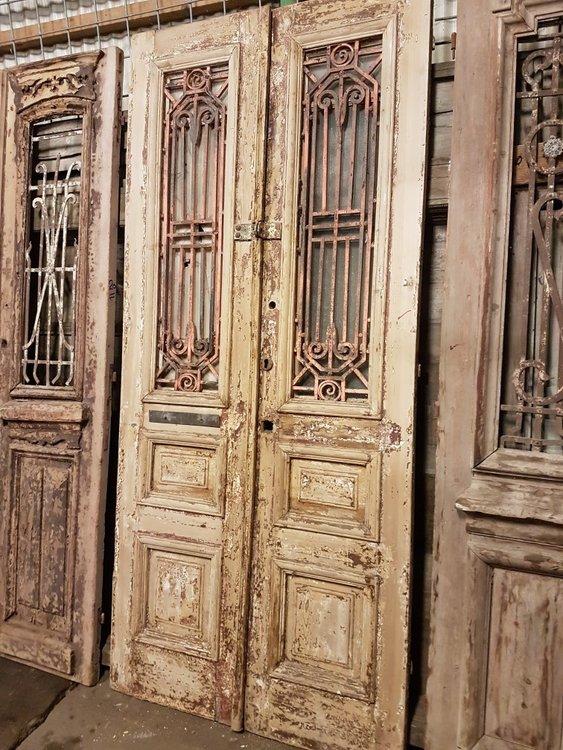 Antieke dubbele deur 110 x 245 cm