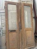 Vintage dubbele voordeur_