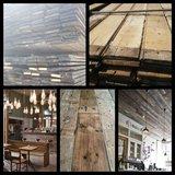 Oud antiek dakbeschot, vloerplanken, wandbekleding_