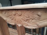 Solid oak fireplace with wood carving_