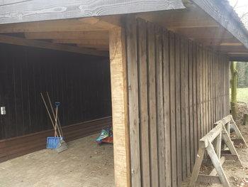 Antieke houten PANELEN 75cm breed 300cm hoog