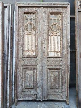 Antieke dubbele deur 146 x 260 cm