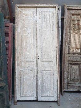 Antieke dubbele deur 120 x 265 cm