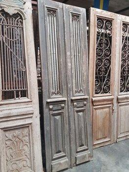 Antieke dubbele deur 82 x 254 cm