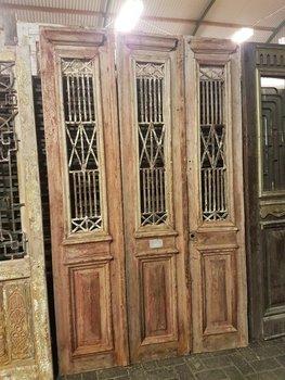 Antieke 3 slag deur 153 x 250 cm