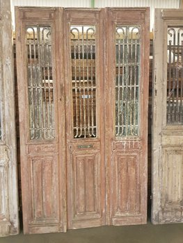 Antieke 3 slag deur 142 x 245 cm