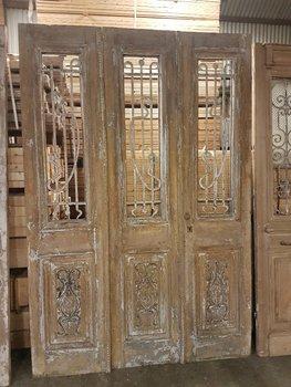 Antieke 3 slag deur 170 x 252 cm