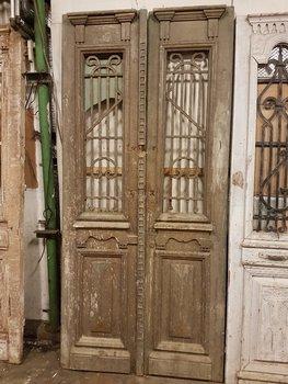 Antieke dubbele deur 110 x 240 cm