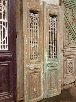 Antieke dubbele deur 104 x 235 cm