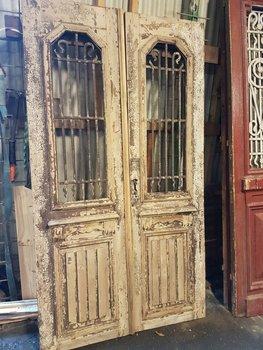 Antieke dubbele deur 122 x 218 cm