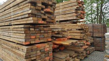 Antieke grenen balken 65x160mm