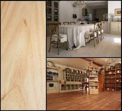 86 m2 Pacific Pine vloerdelen 230 mm breed. Extra lang tot 6 meter!
