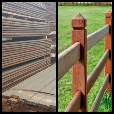 Hardhouten planken voor omheiningen etc 35x125mm