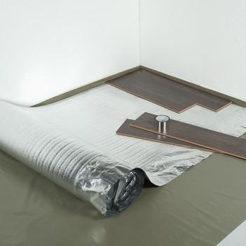 Aluplus ondervloer met overlap per rol 15m2