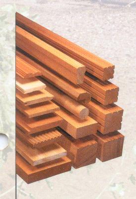 Hardhouten palen 70x70mm 2.75m