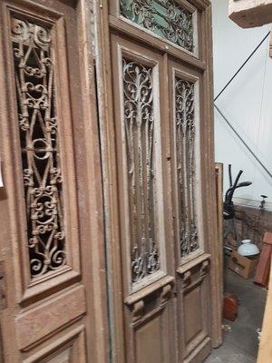 Antieke dubbele deur 143 x 320 cm